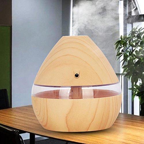Dinglong Diffuseur D'Huile Essentielle 300 Ml LED Ultra-Cool Mist Aroma Air Humidificateur USB Purificateur D'Air Pour La Chambre à Coucher De Bureau Massage,Yoga,Maison,Bureau,Chambre BéBé (Jaune)