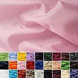 Seidentaft - Stoff Meterware - 27 Farben - Taft -