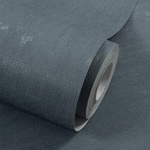 Schatten des grauen schwarzen Normallack-Plain-PVC-Tapete-Schlafzimmer-Wohnzimmer-Bekleidungsgeschäftes Hoteltechnik-Hintergrund-Wand-Papier 4 Farben 10M * 53Cm blaues Grau 6802