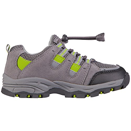 Kappa Unisex-Kinder Storm Tex Teens Low-Top Grau (1333 anthra/lime)