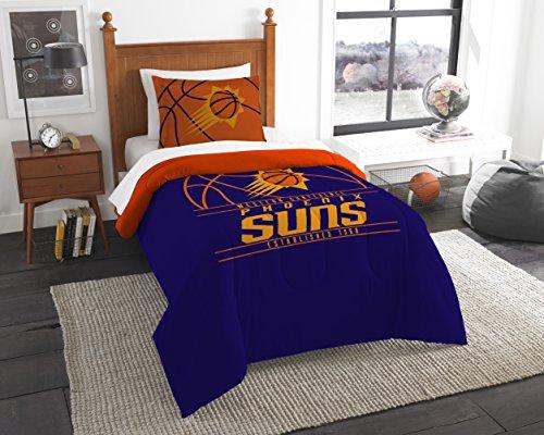 The Northwest Company Offiziell Lizenziertes NBA Phoenix Suns Reverse Slam Full/Queen Tröster und 2 Sham Set -