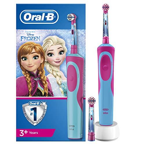 Oral-B Kids Brosse à Dents Électrique Rechargeable avec Personnages Frozen de Disney, 1Manche, Brossette x2