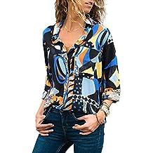 Luckycat Camisetas Manga Larga Mujer Tops Elegante Blusa Oficina Fiesta Estampado de Leopardo Estampado Serpiente
