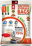 DIBAG ® 6 - Bolsas de ahorro de estacio para almacenamiento, comprimidas al vacío. Pueden utilizarse  para ropa, edredones, ropa de cama, almohadas, cortinas y más.  Medidas 80 X 60 cm