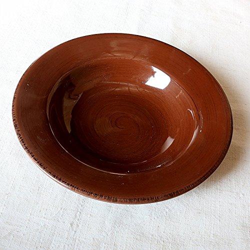 Minimalistischen Stroh Haushalt Teller Salat Teller Keramik Tiefer Teller Suppe Im Westlichen Stil Essen Pasta Dunkles Braun (Halloween-pasta-salat)