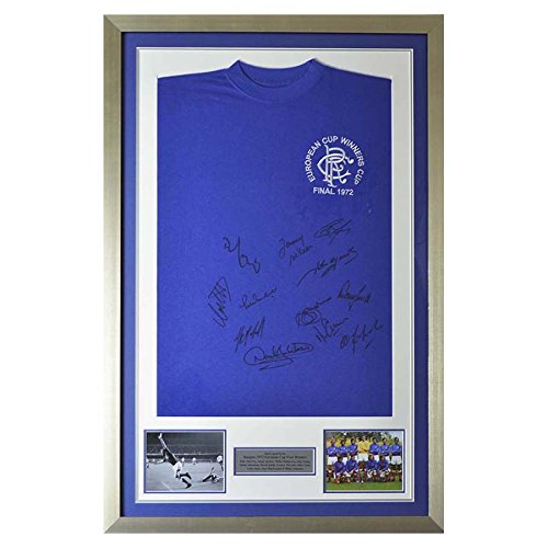 Hand-Signed-Framed-Rangers-European-Cup-Shirt-1972-Winners