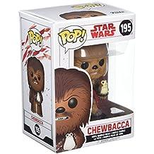Star Wars - Figuara de vinilo: POP! Bobble: Star Wars: E8 TLJ: Chewbacca con Porg