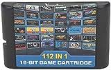 112 en 1 Para el cartucho de juego Sega Megadrive Genesis