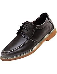 167a8b82a42d2 LYZGF Hombres Cuatro Estaciones Negocios Casual Moda Transpirable Juventud  Retro Encaje Zapatos De Cuero