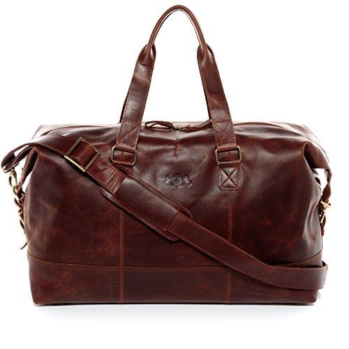 1913975036 SID & VAIN® sac de voyage YALE unisexe - grand fourre-tout besace week-end  style Vintage - sac sport bagages cabine à main homme et femme en cuir  véritable