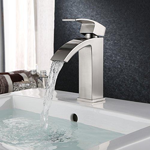 Homfa Waschtischarmatur Wasserfall Einhebel Einhandmischer