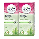 #4: Veet Full Body Waxing Kit for Dry Skin - 20 Strips (Pack of 2)