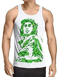 style3 Cannabis Marley Débardeur pour Hommes Tank Top bob rasta musique Jamaïque chanvre reggae