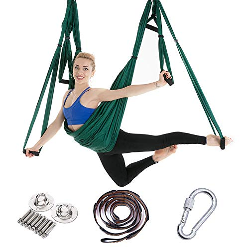 Ayue® aerial yoga swing set - ultra strong antigravity yoga hammock- aerea trapezio kit - sling per antigravity yoga esercizi di inversione - accessori di montaggio inclusi
