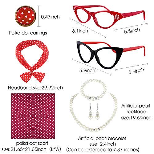 Occhiali montatura gatto vintage anni 50s Dawnzen/® Occhiali gatto da donna ragazza lente trasparente