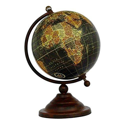 "Preisvergleich Produktbild Mini-Desktop-Rotating Globe World Erde Geographie Black Ocean mere 6.5"""