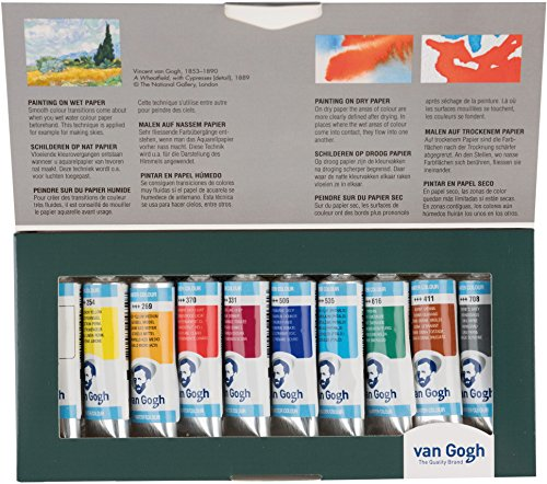 Van Gogh National Gallery Aquarell-Set, 10 x 10ml Tuben Feine Aquarellfarbe