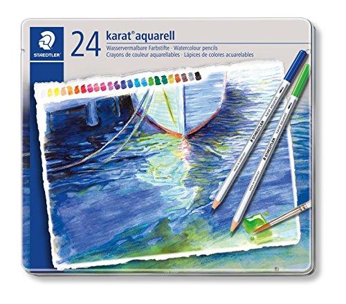 Asl Pro (Staedtler 125 M24 - karat aquarell Farbstift, wasservermalbar, 24 Stück Etui)
