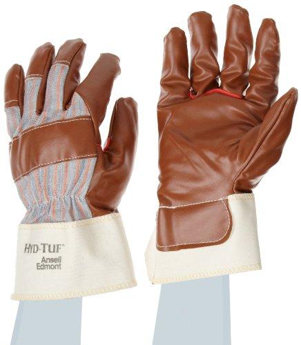 Ansell Hyd-Tuf 52-547 Gants pour usages multiples, protection mécanique, Marron, Taille 10 (Sachet de 12 paires)