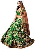 Vaankosh Fashion Women's Cotton Sharara Lehenga Choli (Dulhangreen_Green_Free Size)