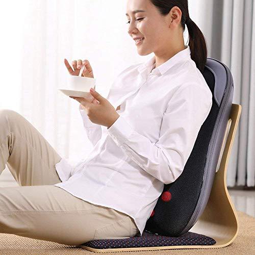 CWJ Multifunktionsmassagegerät Vibrationsheizung Elektrische Taille Hals Schulterkissen Stuhl für Taille Schlagen Sie zurück Kneten Lendenwirbelsäule Körpermassage Automatischer Timing-Schutz