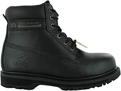 New Mens Groundwork Lace Up Steel Toe Safety Ankle