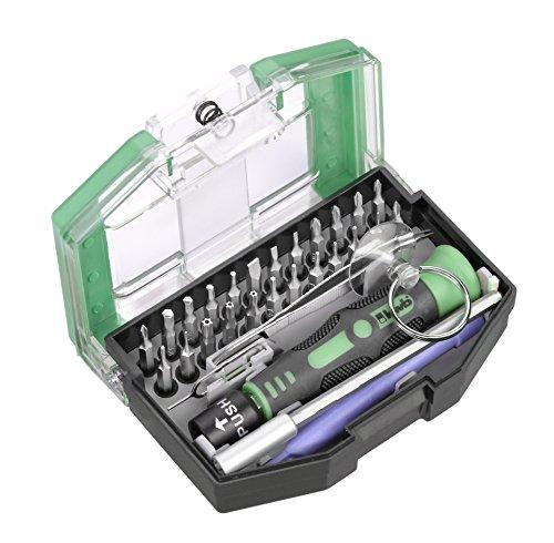 Preisvergleich Produktbild kwb Bits for Bytes – Bit-Box, 30-tlg inkl. Bits, Schnellwechsel-Bithalter, Kunstoffhebel-Werkzeug, Saugnapf und Handgriff in stabiler Kunststoffbox
