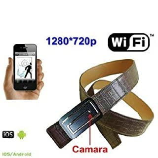 agente007 – WiFi Spy Camera Hidden in leather belt 720P Grabacion en Micro SD