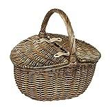 Piccola Wash Antico doppio Lidded ovale Picnic Basket