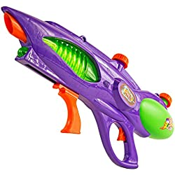 XXL Wasser-Pistole Kinder-Spielzeug Schwarz Gelb Wasser-Spritze Sommer-Spielzeug Spielzeug-Pistole Wasser-Gewehr Aqua-Gun Pool-Kanone Planschbecken-Pistole Garten-Party Spielzeug-Waffe Swimming-Pool-Gun 58cm