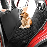 """Hundedecke Auto - Anti-Rutsch Autoschondecke, Hunde Autodecke mit Seitenschutz, Weich Kofferraumschutz für Auto SUV, mit Ein Haustier Sicherheitsgurt, 63.8"""" x 55.5"""" - Schwarz"""