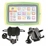 DURAGADGET Montaggio  Supporto Parabrezza Auto per Lisciani Giochi Mio Tab Smart Kid 51465  Carotina 42524  Peppa Pig 42562