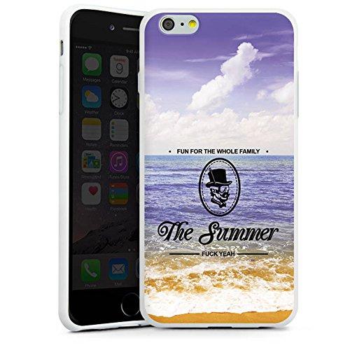 Apple iPhone X Silikon Hülle Case Schutzhülle Strand Ferien statement Silikon Case weiß