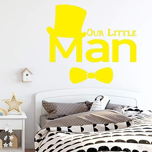 Bunter mann Hauptdekorationen PVC Aufkleber Für Schlafzimmer Dekoration Wandkunst Aufkleber Wandmalereien wanddekorationen wohnzimmer gelb 28 cm X 31 cm