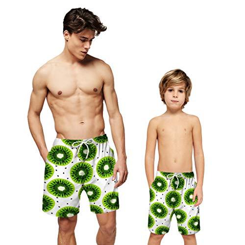Erwachsene, Blutdruckmesser (bestshope Männer Jugendliche Erwachsene Früchte 3D Print Familie Passende Boardshorts Casual Beach Shorts)