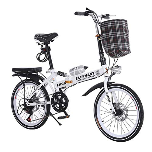 Yunyisujiao Faltendes Auto Geschwindigkeitsänderung Auto 20 Zoll Klapprad Scheibenbremse Fahrrad Männer Und Frauen Ultraleichte Tragbare Fahrrad (Color : RED, Size : 150 * 35 * 100CM)