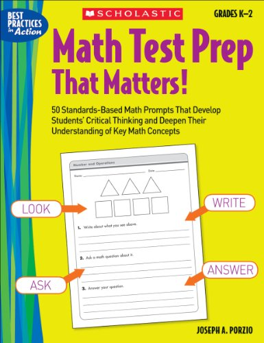Read PDF Math Test Prep That Matters! Grades K-2: 50 Standards-Based
