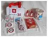 1.Hilfe-Tasche gefüllt 30 30ster Geburtstag Erste Hilfe mit Inhalt Partygag