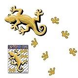 Etiqueta engomada gracioso animal del gecko del amarillo para las caravanas de los carros del coche - ST00031RD_SML - JAS Stickers