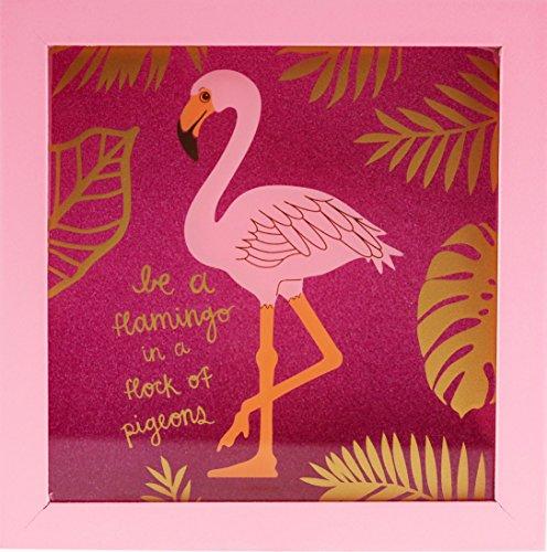 Blau Wal Geschenke Flamingo quadratisch Glitter Geld Box