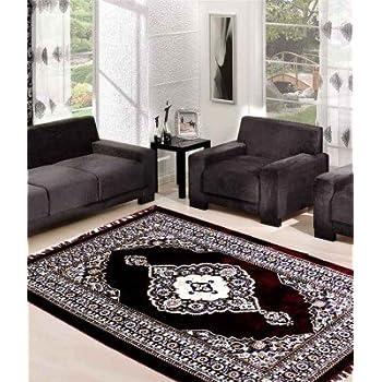 SRS Maroon Ethnic Design Carpet (5*7ft) (Maroon, 5 x 7