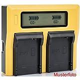 Bundlestar LCD double chargeur pour batterie Sony NP-FM50 NP-FM500H NP-F550 NP-F750 NP-F960 NP-F970 NP-F990 NP-QM51 NP-QM71 NP-QM91
