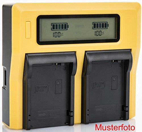 Galleria fotografica Bundlestar Caricatore doppio per la batteria Sony NP-F970 NP-F990 NP-FM500H e più