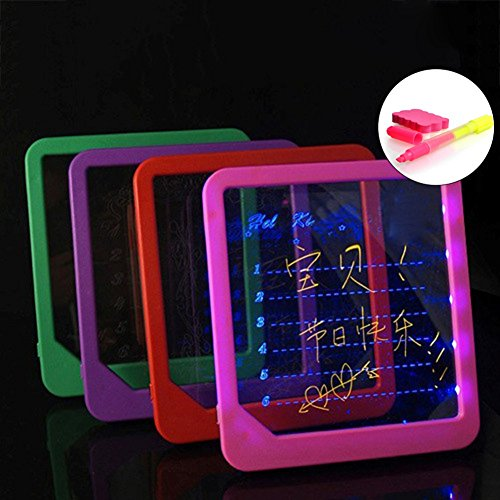 MAJGLGE LED Board Light Up Drawing Writing Special Puzzle Education Toy Gifts Christmas - Random Color