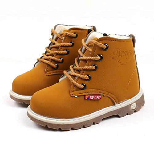 Martin Stiefel Jamicy® Winter-heiße Verkaufs Dicker Baumwollstiefel Klassische Schuhe Rutschfeste Halten Warme Schneeaufladungen Für Jungen mädchen (EU:27, Gelb) (Schnee 8 Stiefel Damen Größe)