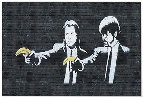 Panorama Póster Banksy Pulp Fiction 70 x 50 cm - Impreso en Papel 250gr - Banksy - Póster - Cuadros Modernos - Póster Banksy - Cuadros Decoración Salón - Cuadros Dormitorio