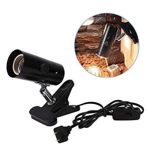 Supporto per lampada rettile, lampada girevole a rotazione orientabile a 360 ° Apparecchio Supporto riscaldante in ceramica per testa termica in metallo universale per lampade termiche per animali dom