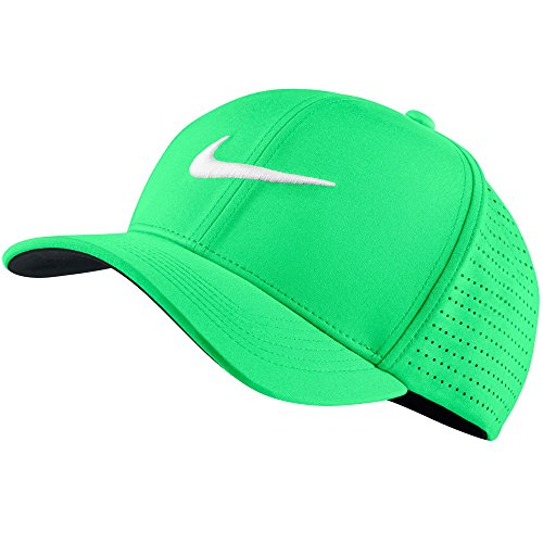 Nike U NK Arobill CLC99 Cap Perf Berretto da golf Uomo, Verde (Electro Green / White), S/M - White Golf Cap
