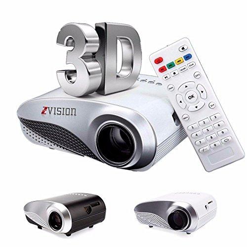 ZVision HD Mini Portable LED Projector 20 - 100 inch TV DVD PC with SD USB AV In VGA HDMI Port