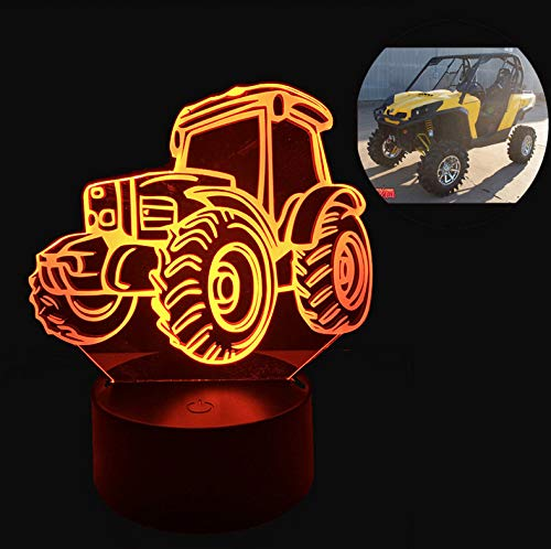 3D LED Nachtlicht 7 Farbwechsel Cool Beach Dune Buggy Auto Schreibtisch Tisch Lava Lampe RC Fernbedienung Kid Boy Weihnachtsgeschenk